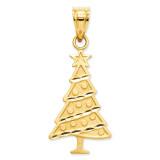 Christmas Tree Pendant 14k Gold M482