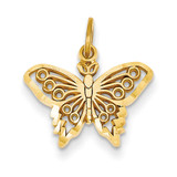 Butterfly Charm 14k Gold M658