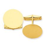 Circular Cufflinks 14k Gold MC245