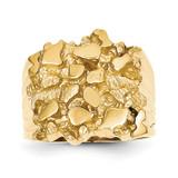 Men's Nugget Ring 14k Gold NR14