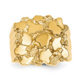 Men's Nugget Ring 14k Gold NR15