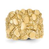 Men's Nugget Ring 14k Gold NR17