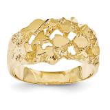 Men's Nugget Ring 14k Gold NR19