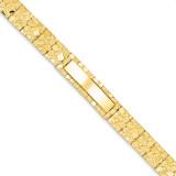 12.0mm Nugget ID Bracelet 7 Inch 14k Gold NUGID12-7
