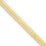4mm Domed Omega Bracelet 7 Inch 14k Gold OD4-7