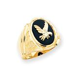 Men's Onyx Eagle Ring 14k Gold OR52