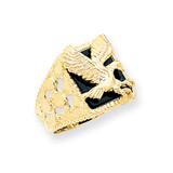 Men's Onyx Eagle Ring 14k Gold OR53