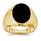 Men's Onyx Ring 14k Gold OR65