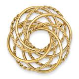 Hollow Swirled Designer Pin 14k Gold PIN67