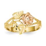 Diamond-Cut Rose Ring 14k Two-Tone Gold R144