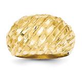 Dome Ring 14k Gold Diamond-cut R170