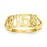 15 RING 14k Gold R179
