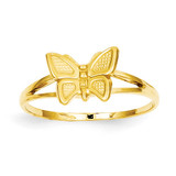 Children's Butterfly Ring 14k Gold R195
