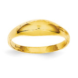 Childs Polished Dome Ring 14k Gold R196