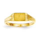 Childs Diamond-Cut Signet Ring 14k Gold R198