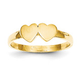 Childs Double Heart Ring 14k Gold R200