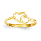 Children's Heart Ring 14k Gold R202