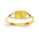 Childs Polished & Satin Ring 14k Gold R207
