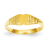 Childs Polished & Satin Ring 14k Gold R208