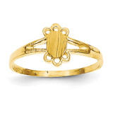 Childs Fancy Signet Ring 14k Gold R214