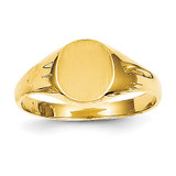 Childs Signet Ring 14k Gold R218