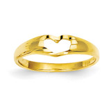 Children's Heart Ring 14k Gold R221