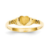 Childs Heart Ring 14k Gold R222
