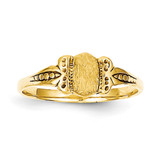 Childs Signet Ring 14k Gold R229