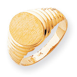 Men's signet Ring 14k Gold R256