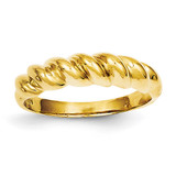Twisted Dome Ring 14k Gold Polished R285