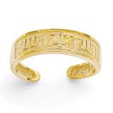 Greek Key Toe Ring 14k Gold R395