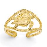 Turtle Toe Ring 14k Gold R400