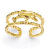 Dolphin Toe Ring 14k Gold R401