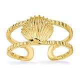 Sea Shell Toe Ring 14k Gold R402