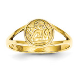 Angel Ring 14k Gold Polished R422