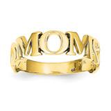 Mom Ring 14k Gold Polished R424