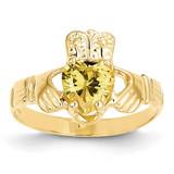 November Birthstone Claddagh Ring 14k Gold R497