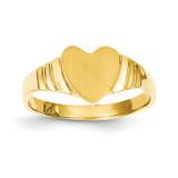 Baby Heart Signet Ring 14k Gold R518