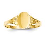 Oval Child Signet Ring 14k Gold R520
