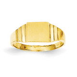 Rectangular Baby Signet Ring 14k Gold R522