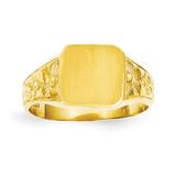 Square Satin-top Baby Signet Ring 14k Gold R523