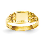 Rectangular Baby Signet Ring 14k Gold R524