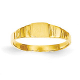 Square Baby Signet Ring 14k Gold R526