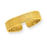 Greek Key Toe Ring 14k Gold R553
