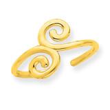 Swirl Toe Ring 14k Gold R556