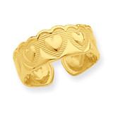 Heart Toe Ring 14k Gold R557