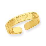 Heart Toe Ring 14k Gold R558