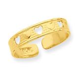 Heart Toe Ring 14k Gold R562