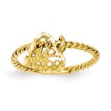 Dangle Heart Ring 14k Gold R91