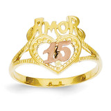Amor 15 Heart Ring 14k Two-Tone Gold R99